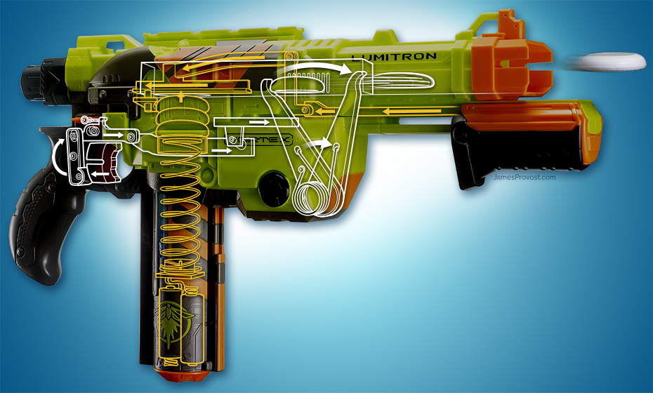 Inner Mechanism of a Nerf Gun